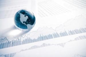 Crystal glass Global on Financial stock Chart
